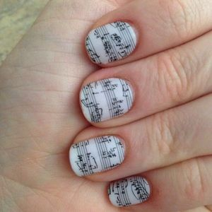 "Jamberry nail wraps in ""Sheet Music"" 🎼 🎶"